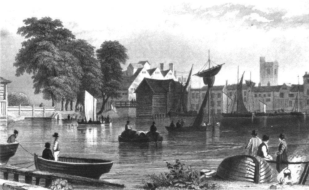 Engraving of Barking Pool 1832