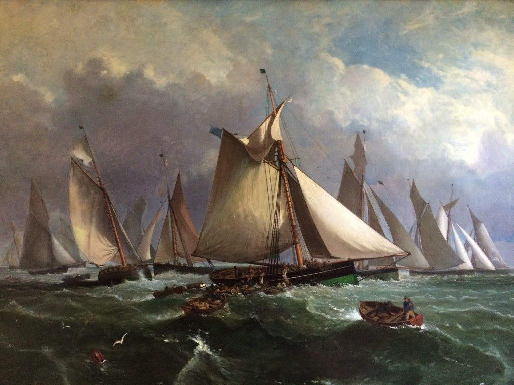 Painting of the Short Blue Fleet