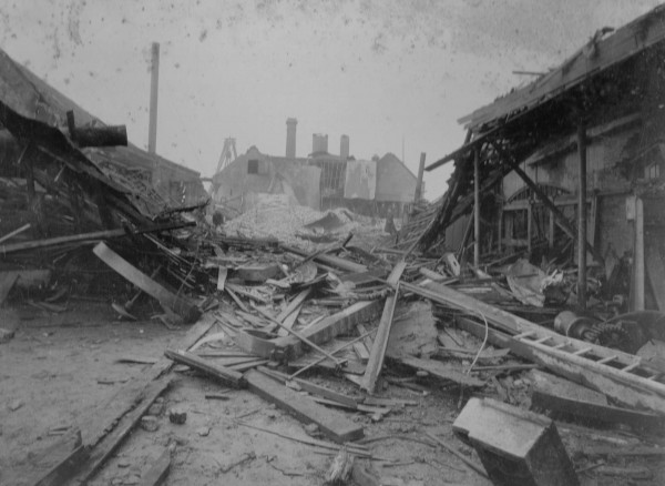 photo of result of explosion Barking 1899