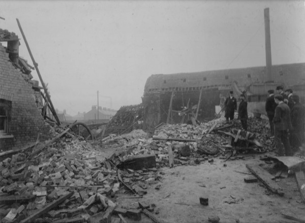 photo of result of explosion at Barking 1899