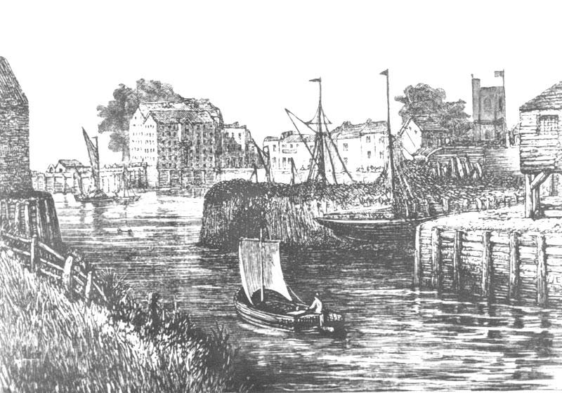drawing of Barking creek long ago