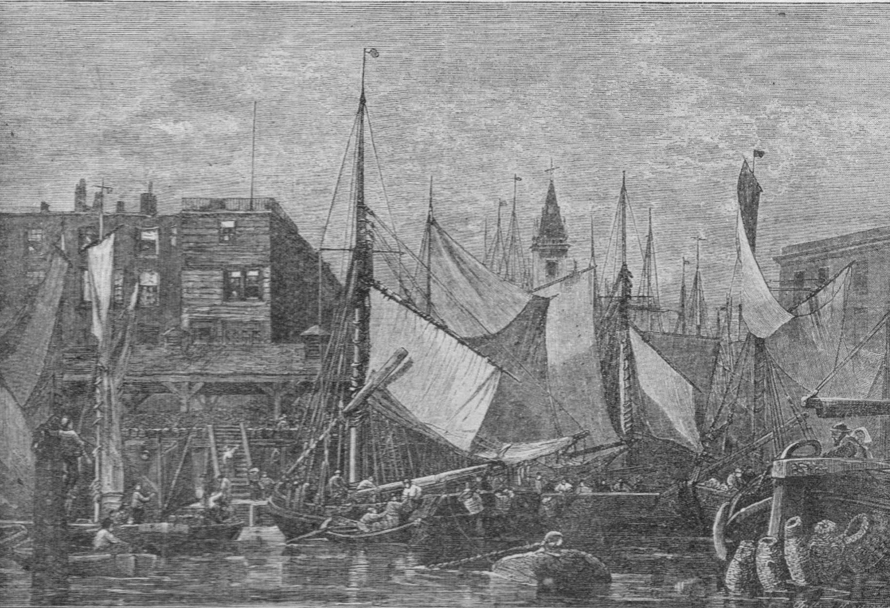 engraving of Old Billingsgate